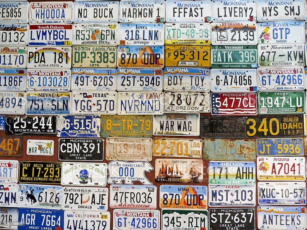 License Plates stock photo