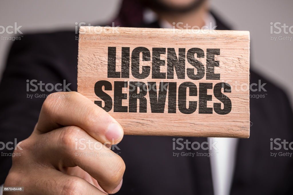 License Services stock photo
