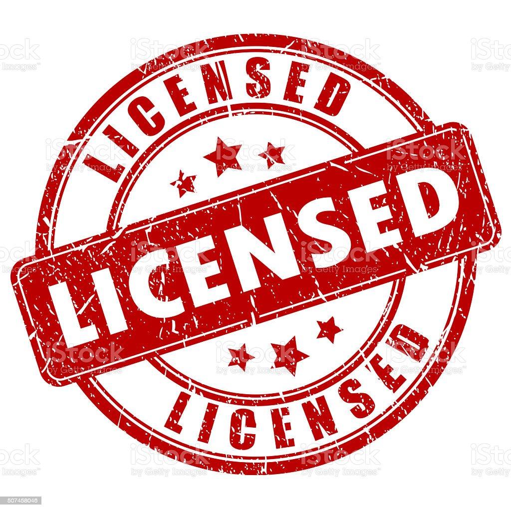 Licensed stamp stock photo