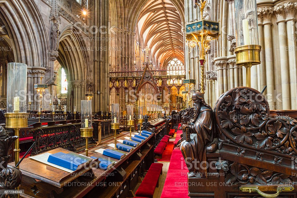 Lichfield Cathedral Choir stock photo