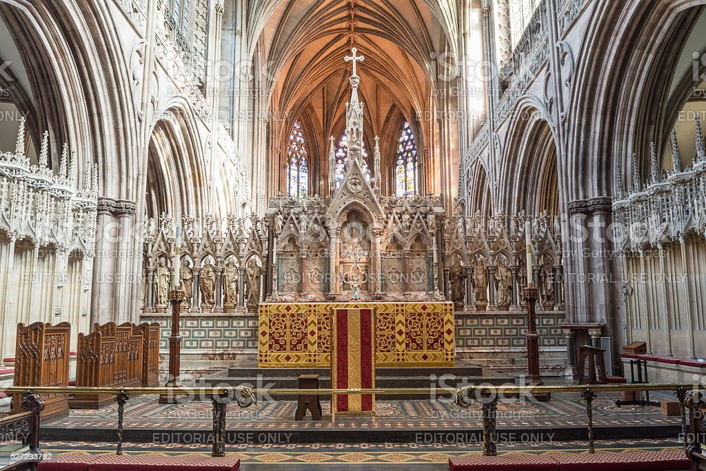 Lichfield Cathedral High Altar stock photo
