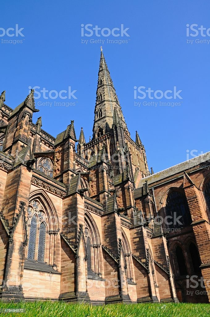 Lichfield Cathedral. stock photo