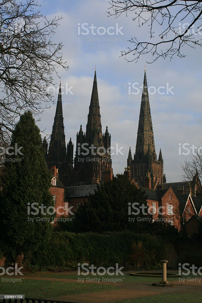Lichfield Cathedral stock photo