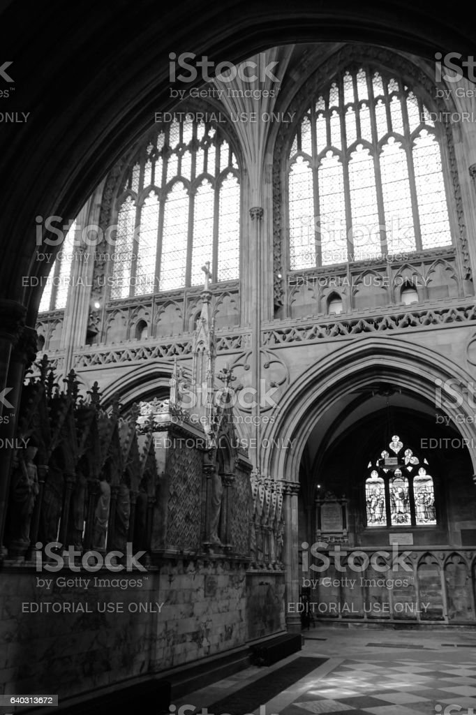 Lichfield Cathedral Staffordshire stock photo