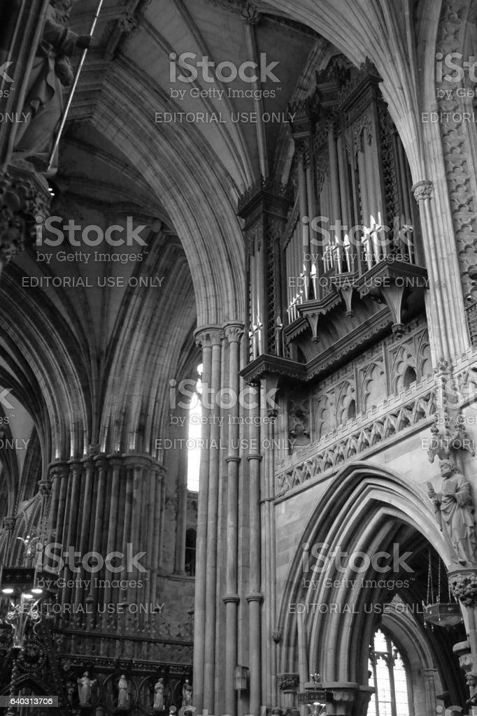 Lichfield Cathedral Staffordshire stock photo