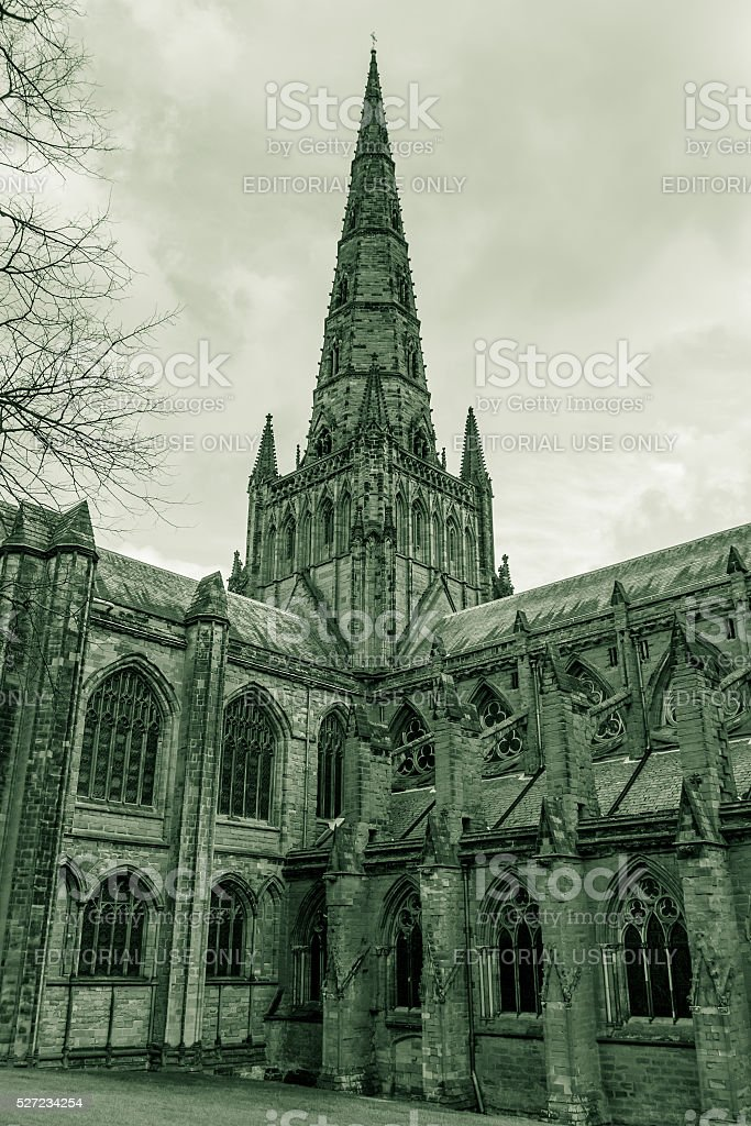 Lichfield Cathedral Tower stock photo