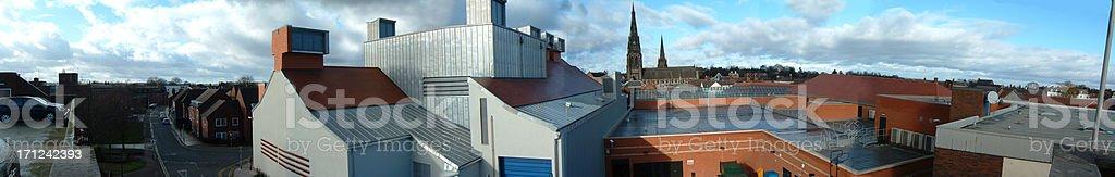 Lichfield Panorama stock photo