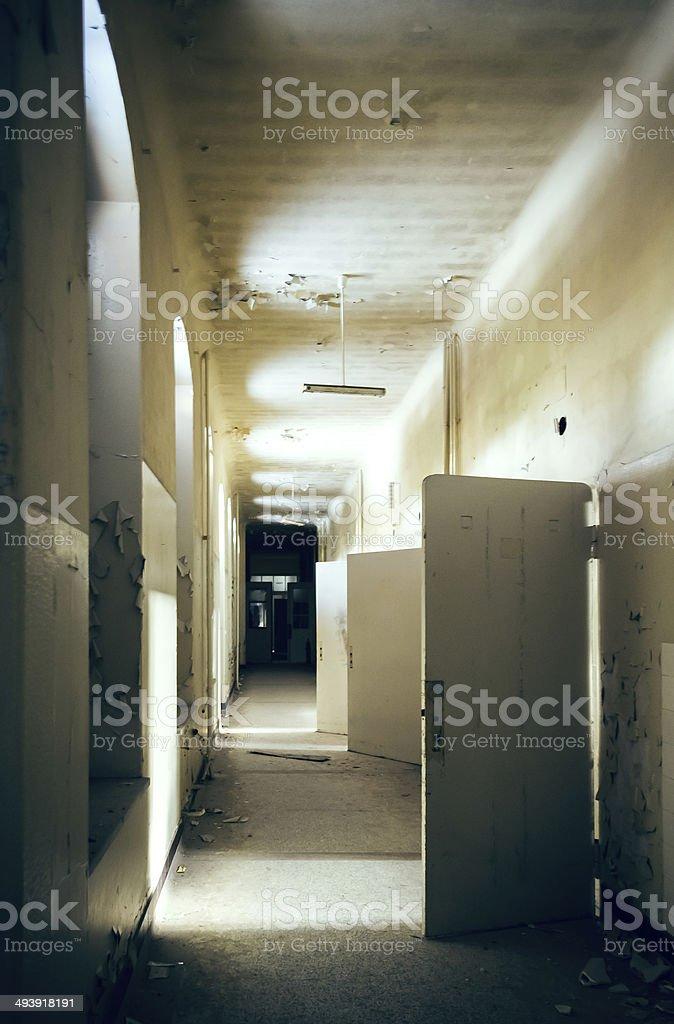 Licht am Ende des Flures stock photo