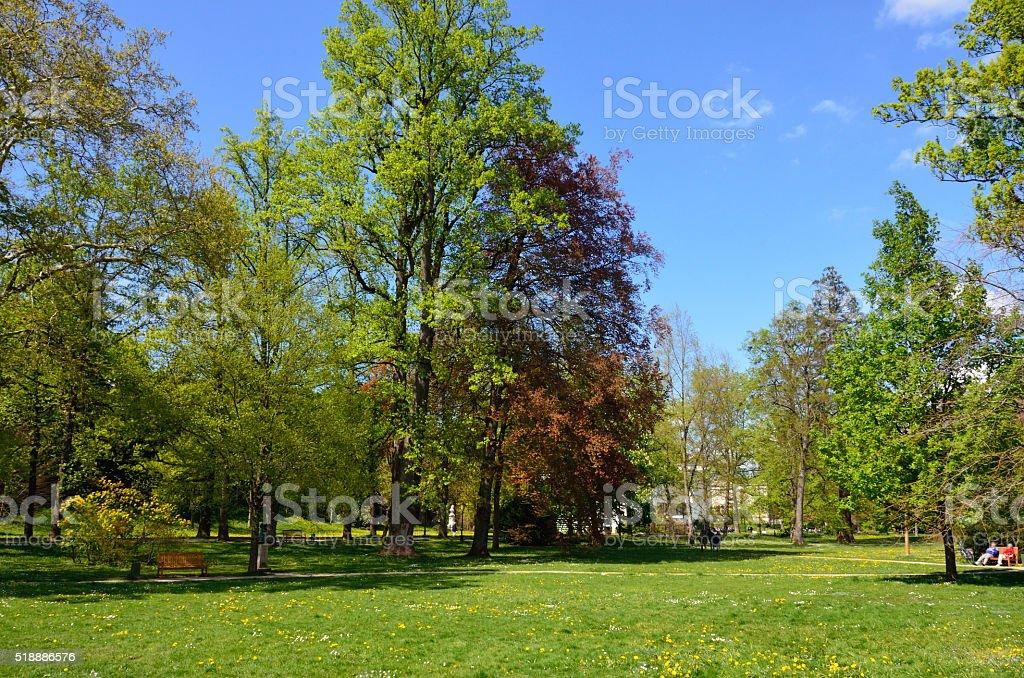 Lichtentaler Allee, Baden-Baden, Selva Negra, Alemania stock photo