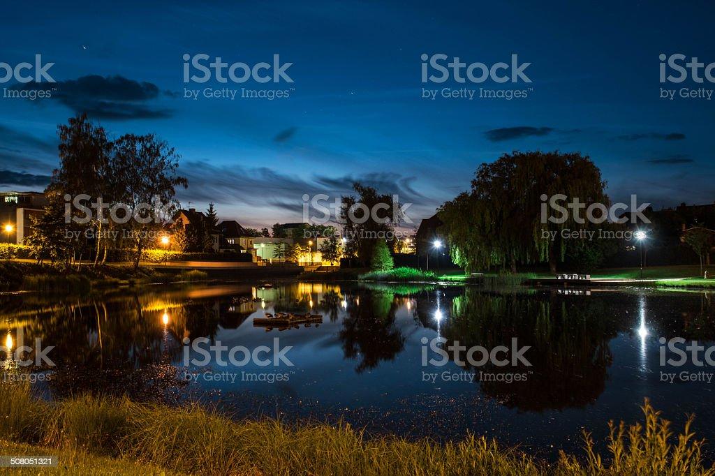 Lichter bei Nacht stock photo