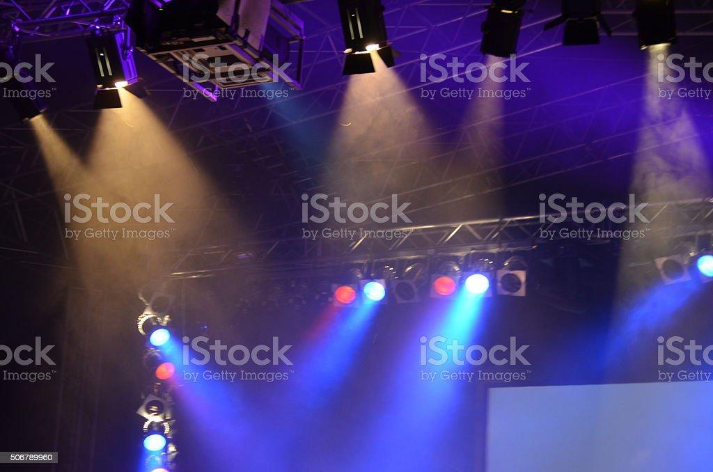 Lichtshow stock photo