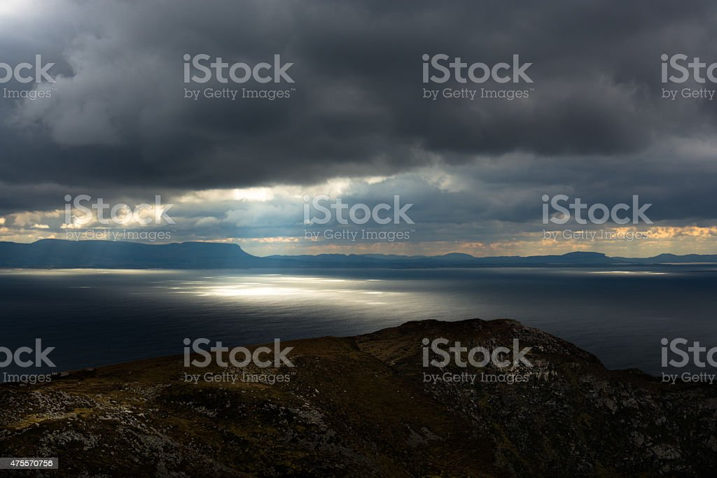 Lichtspiele auf dem Meer royalty-free stock photo