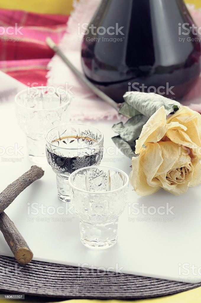 Licorice liqueur royalty-free stock photo