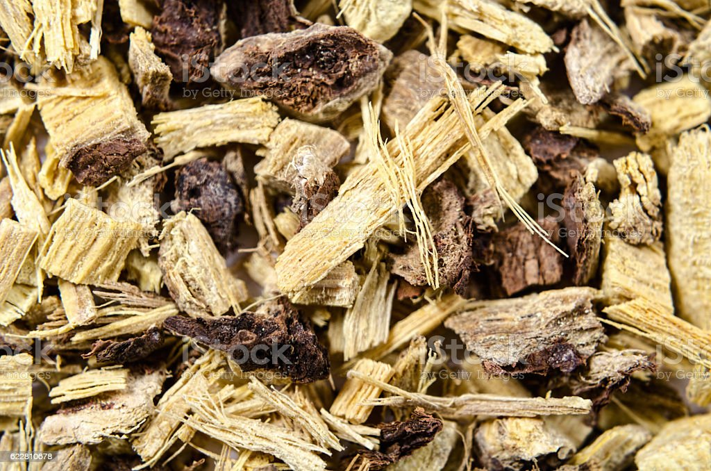 Licorice root as an abstract background stock photo