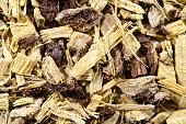 Licorice root as an abstract background
