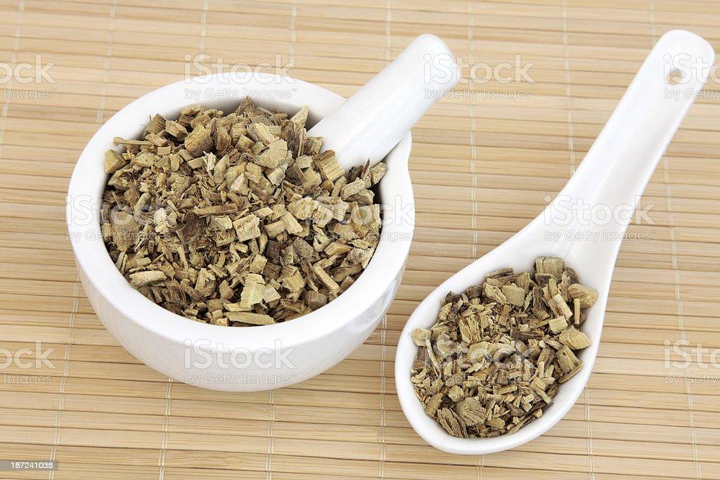 Licorice Root Herb stock photo