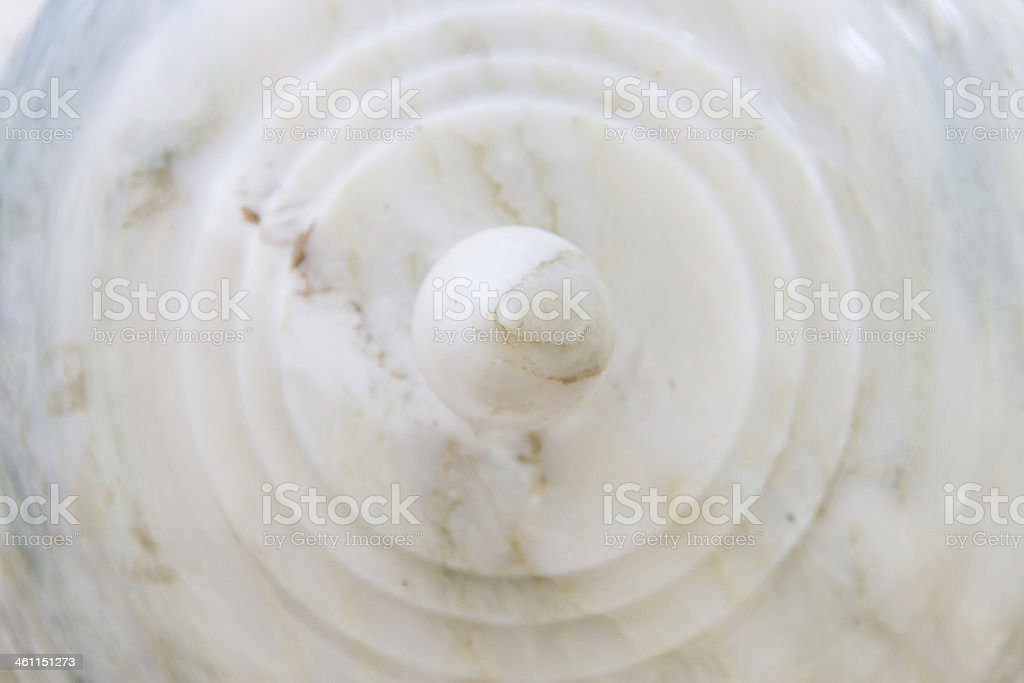 Lid of jar marble stock photo