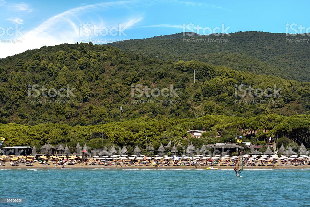 Lido Beach, Golfo Stella, Elba Island royalty-free stock photo