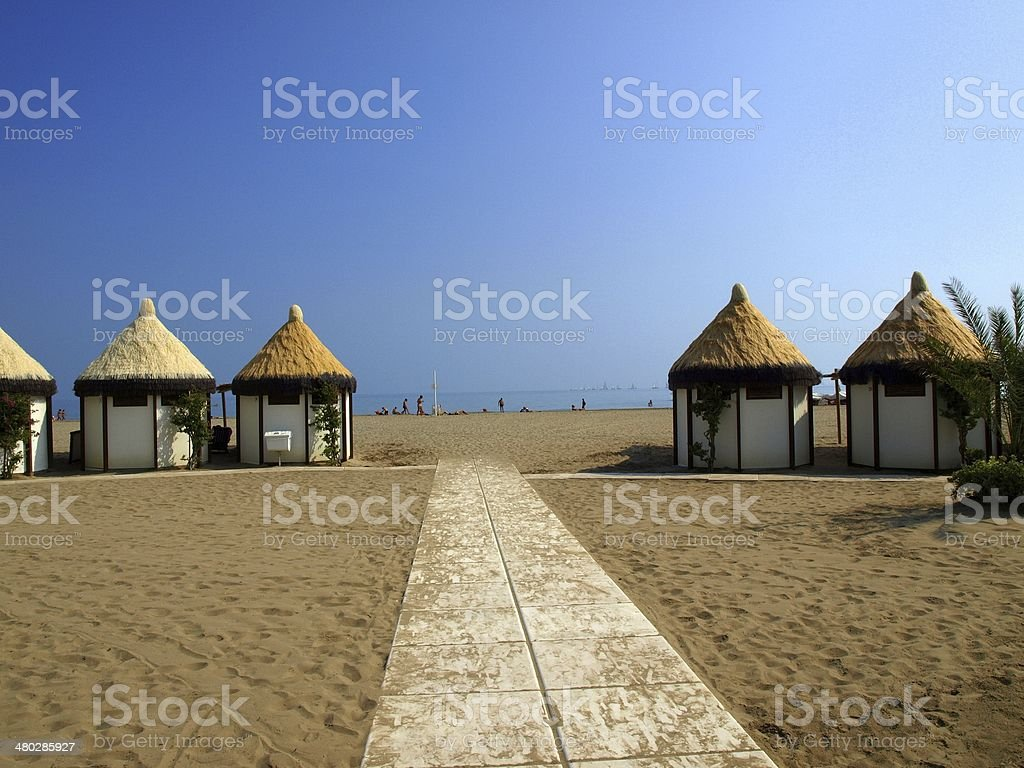 Lido beach stock photo