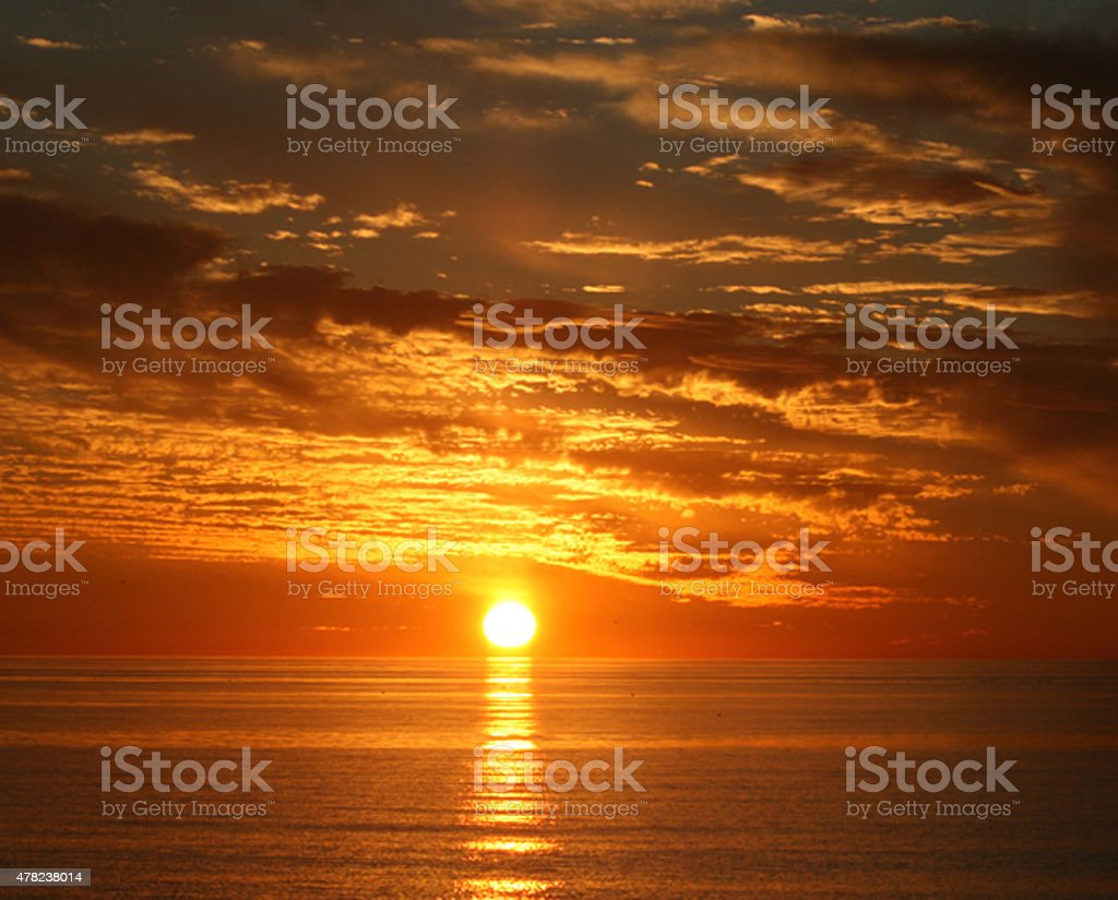 Lido Key Sunset stock photo