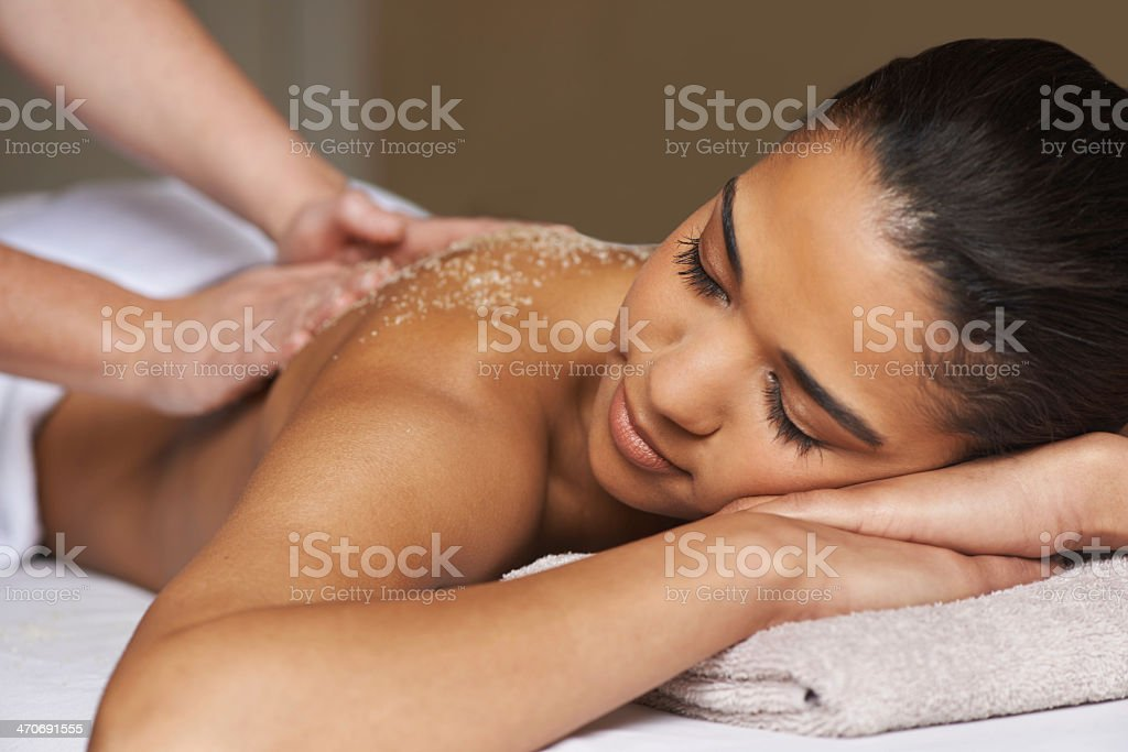 Lie back and let the tension dissapear... stock photo