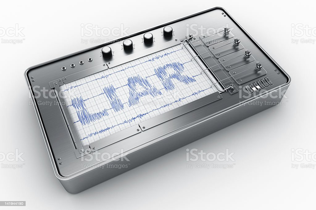 Lie detector royalty-free stock photo