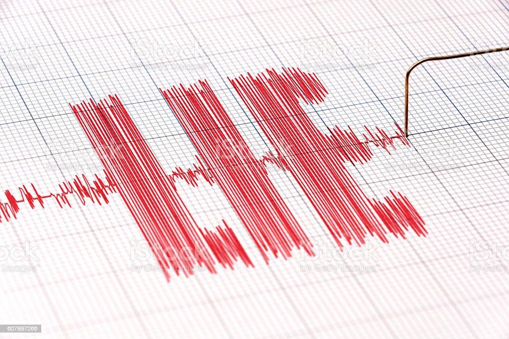 Lie Detector Polygraph Line stock photo