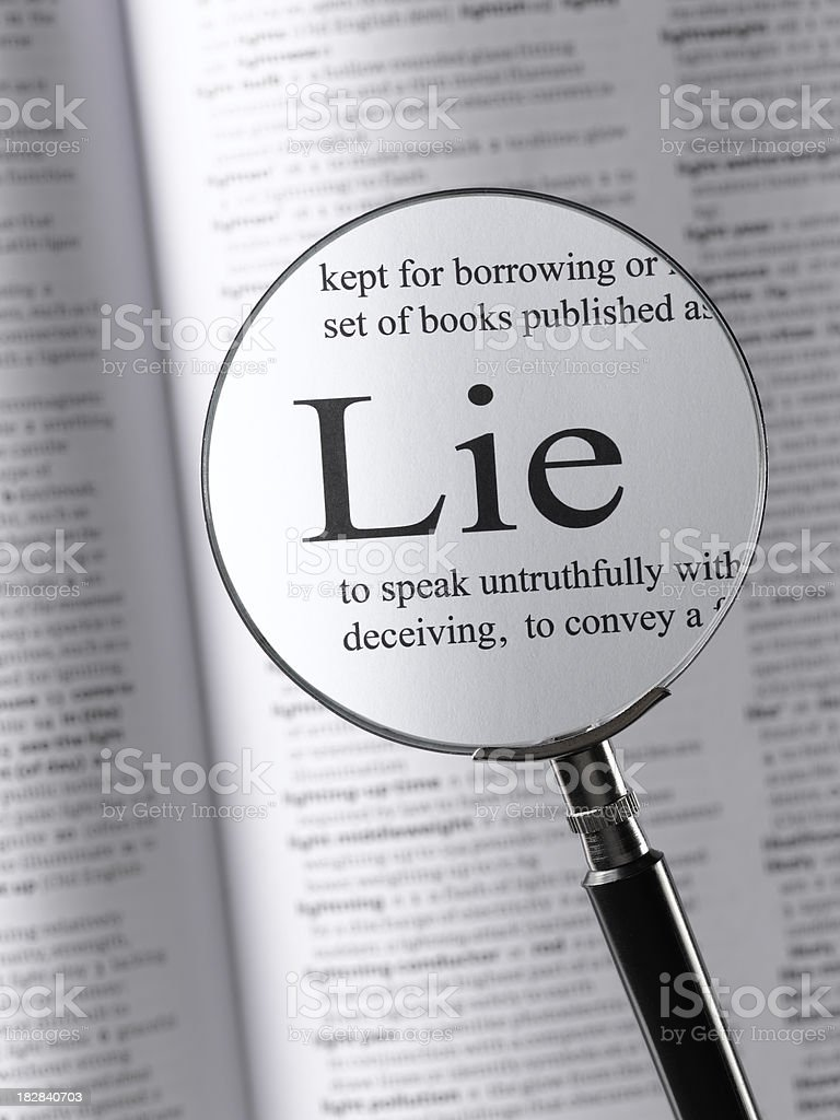 lie royalty-free stock photo