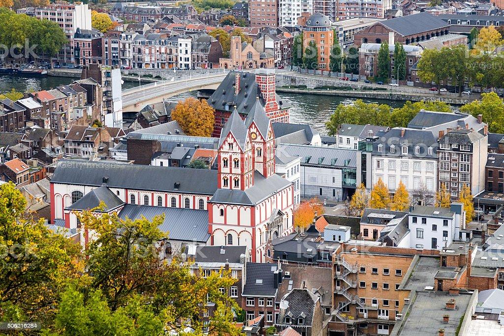 Liege Cityscape, belgium stock photo