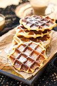 Liege waffles with pearl sugar