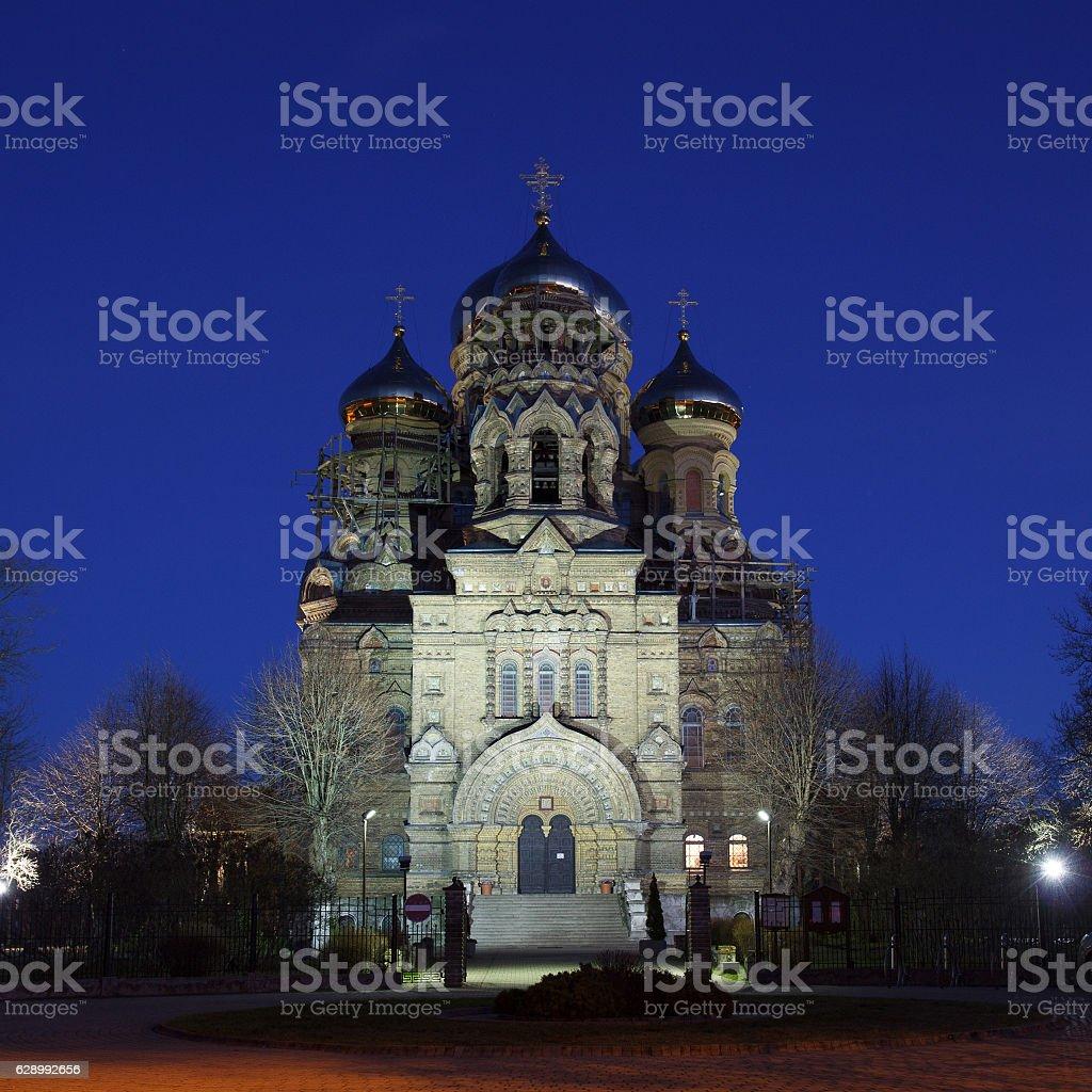 Liepaja, Latvia Russian orthodox church stock photo