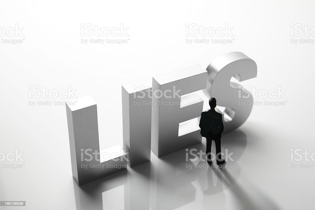 Lies royalty-free stock photo