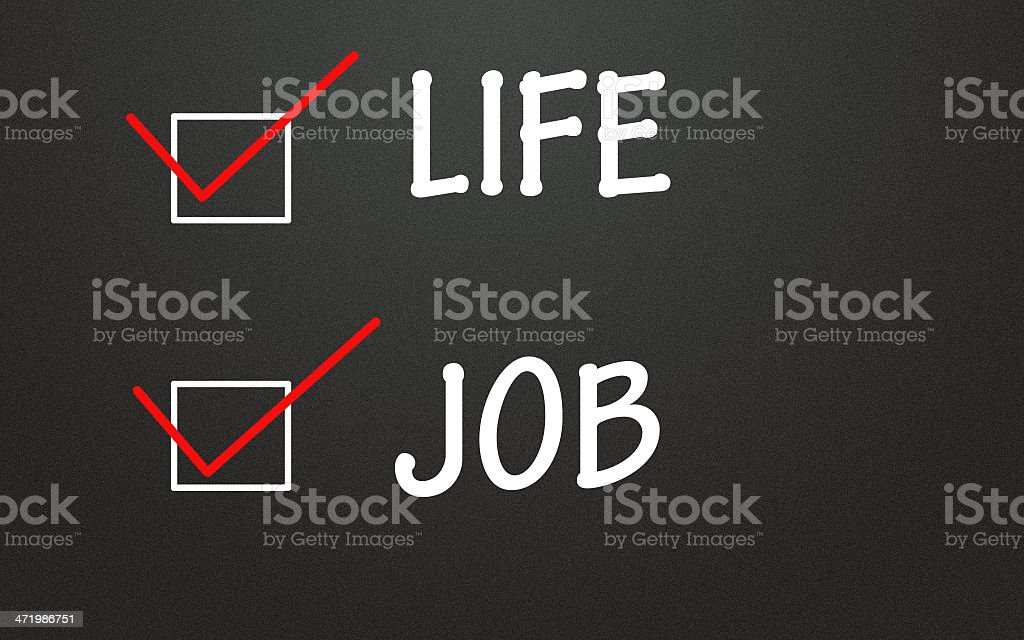 life and job choice stock photo