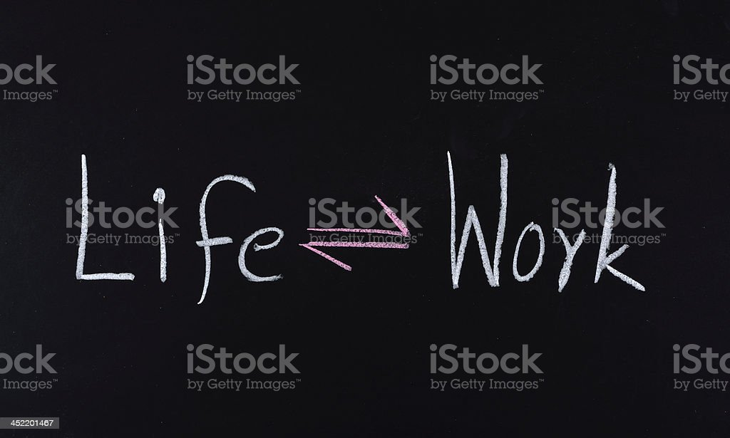 life and work balance concept royalty-free stock photo