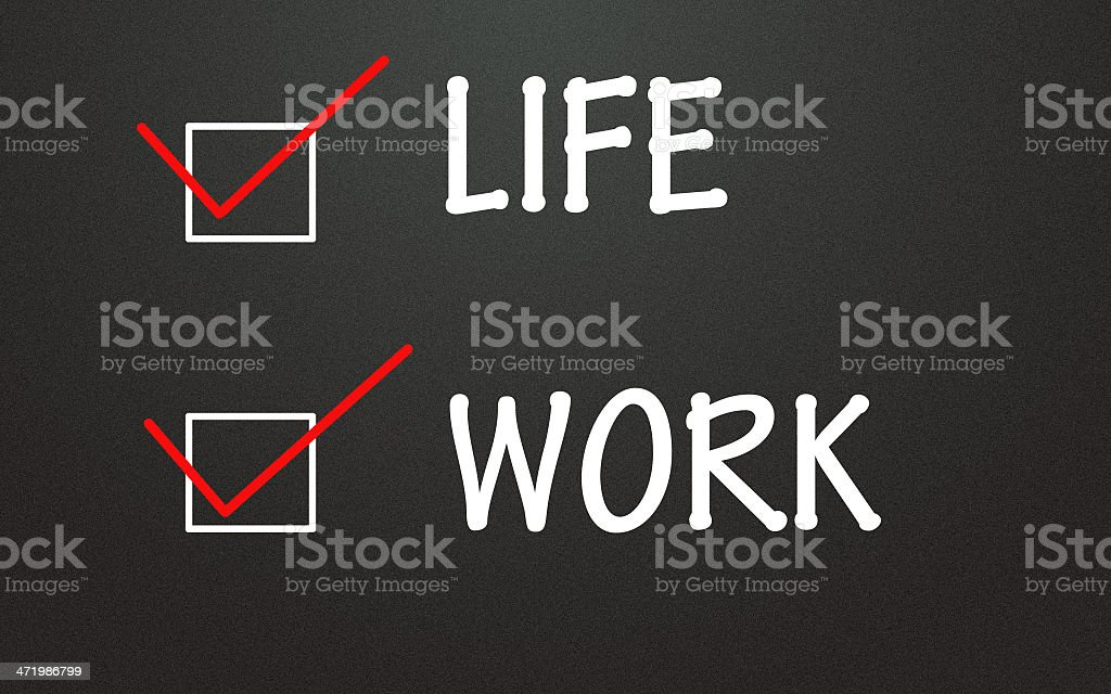 life and work choice stock photo