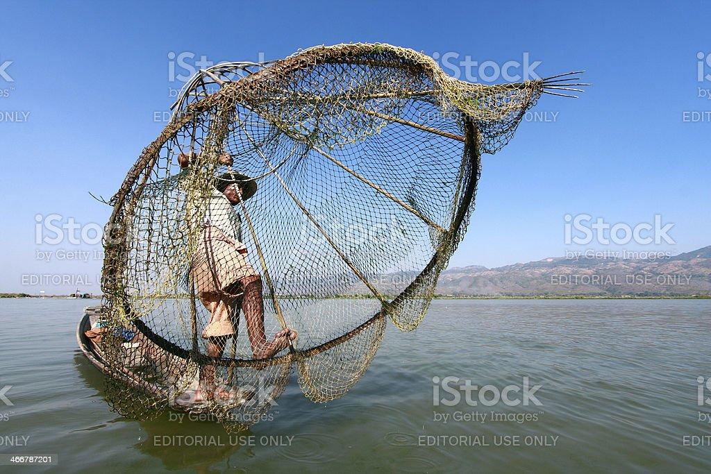 Life at inle lake, Myanmar. stock photo