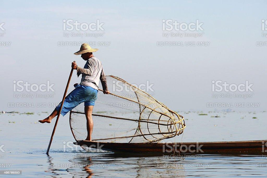 Life at Inle lake, Myanmar stock photo