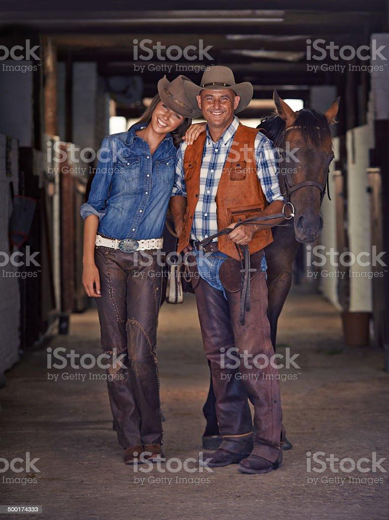 Life at the ranch royalty-free stock photo