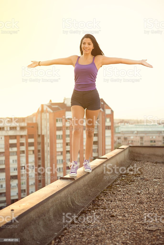 Life At The Top stock photo