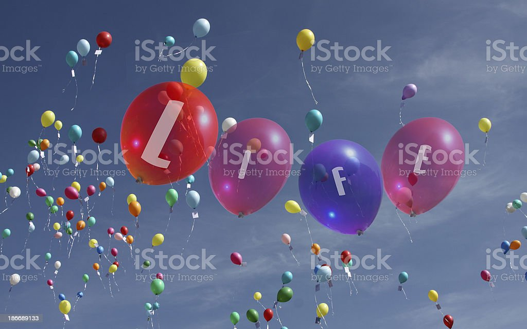 life balloons stock photo