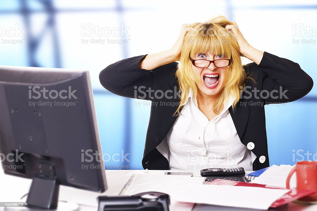 life before week-end. business scream stock photo