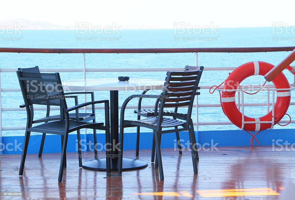 life belt on a cruise ship stock photo