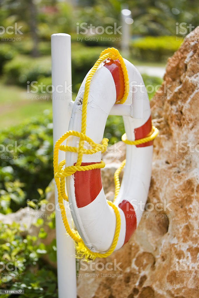 Life belt royalty-free stock photo