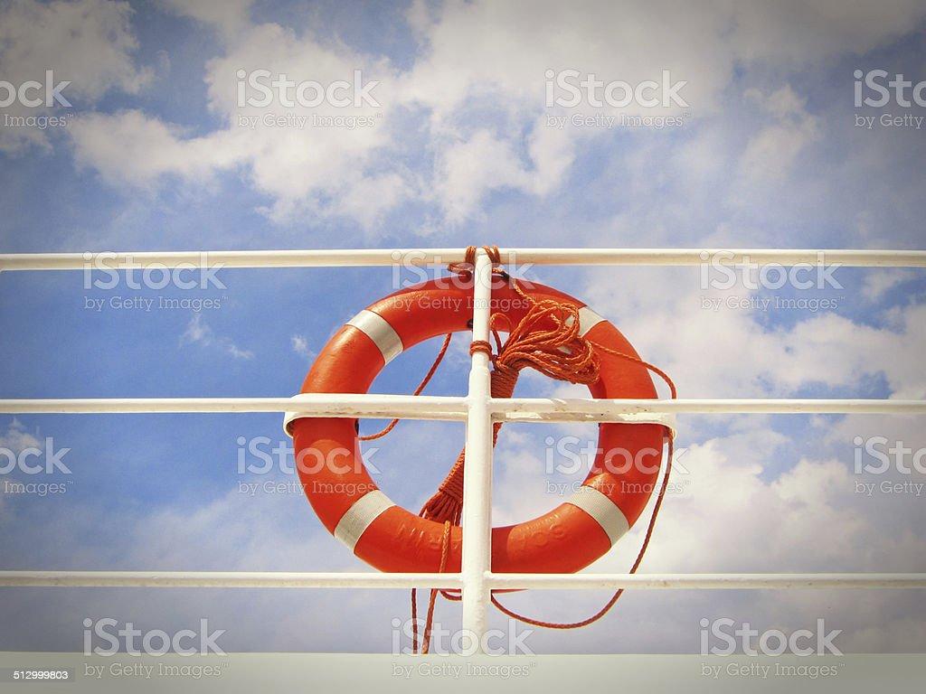 life belt stock photo