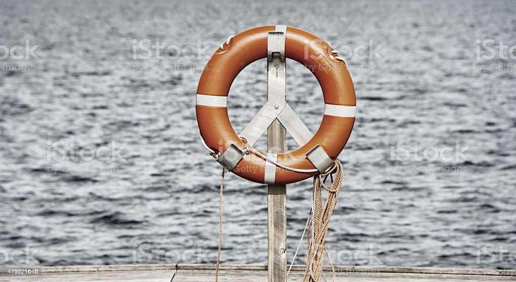 life belt, rescue ring stock photo