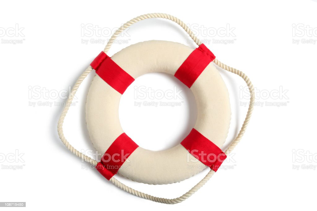 Life belt with clipping path stock photo