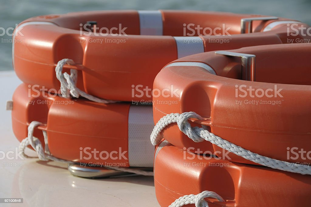 Life belts royalty-free stock photo