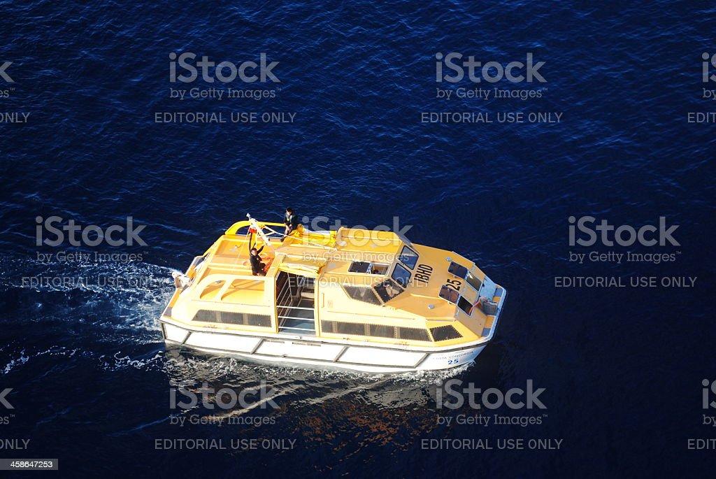 Life Boat Costa Concordia stock photo
