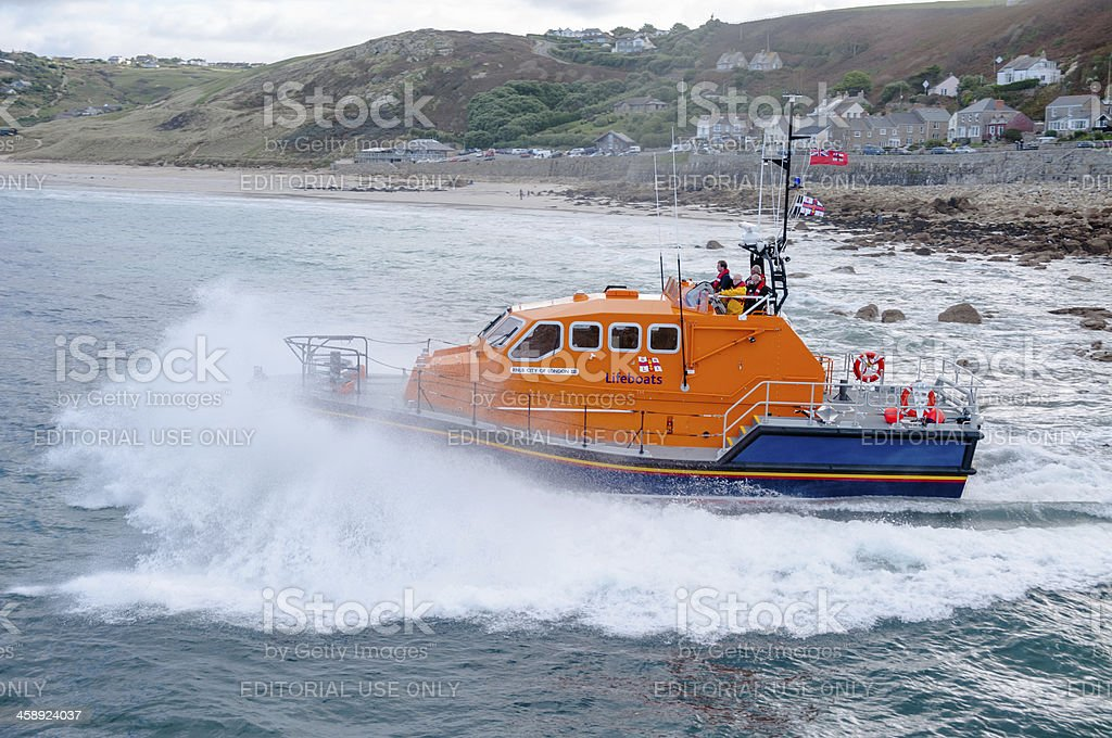Life Boat Launch royalty-free stock photo