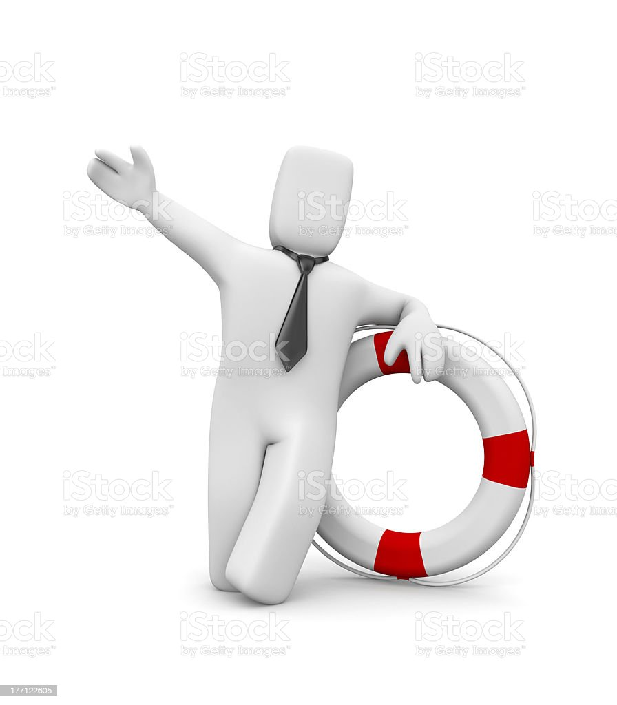 Life buoy for business stock photo